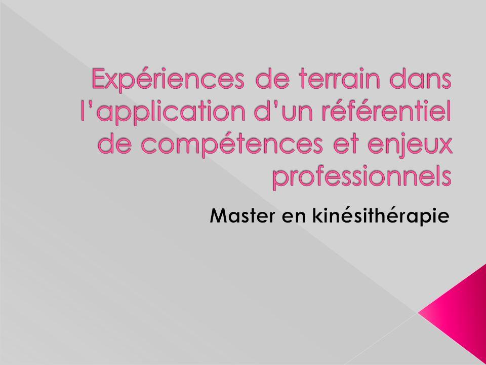 Master en kinésithérapie