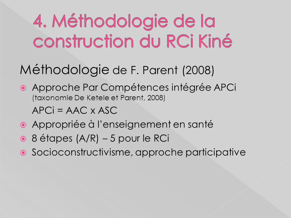 4. Méthodologie de la construction du RCi Kiné