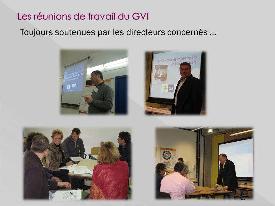 Les réunions de travail du GVI