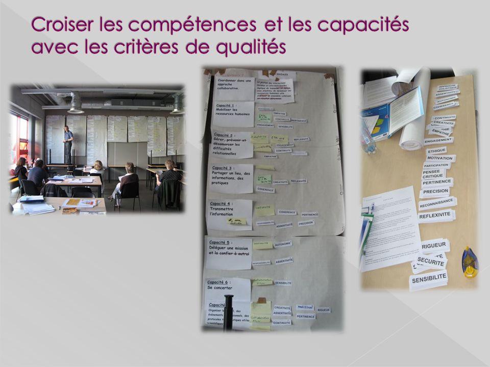 Croiser les compétences et les capacités avec les critères de qualités