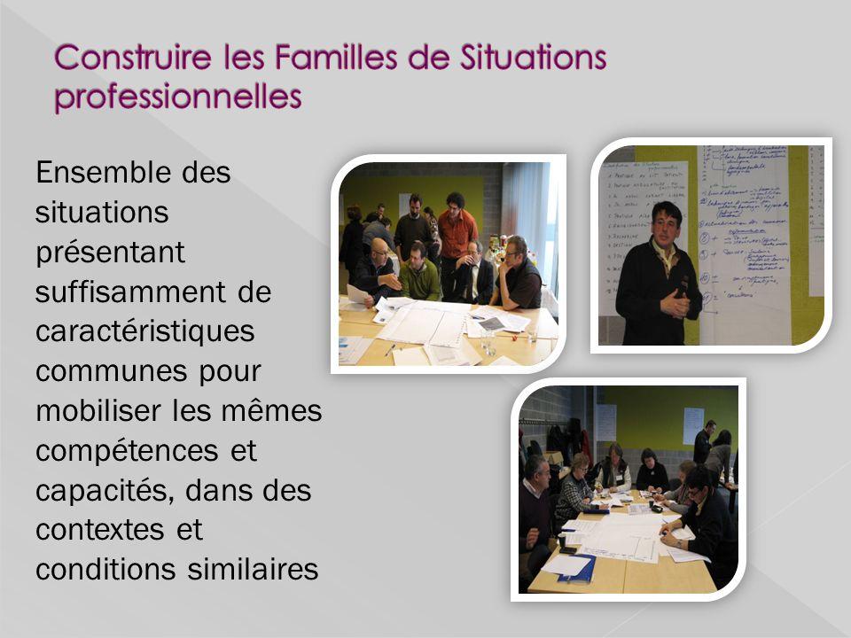 Construire les Familles de Situations professionnelles