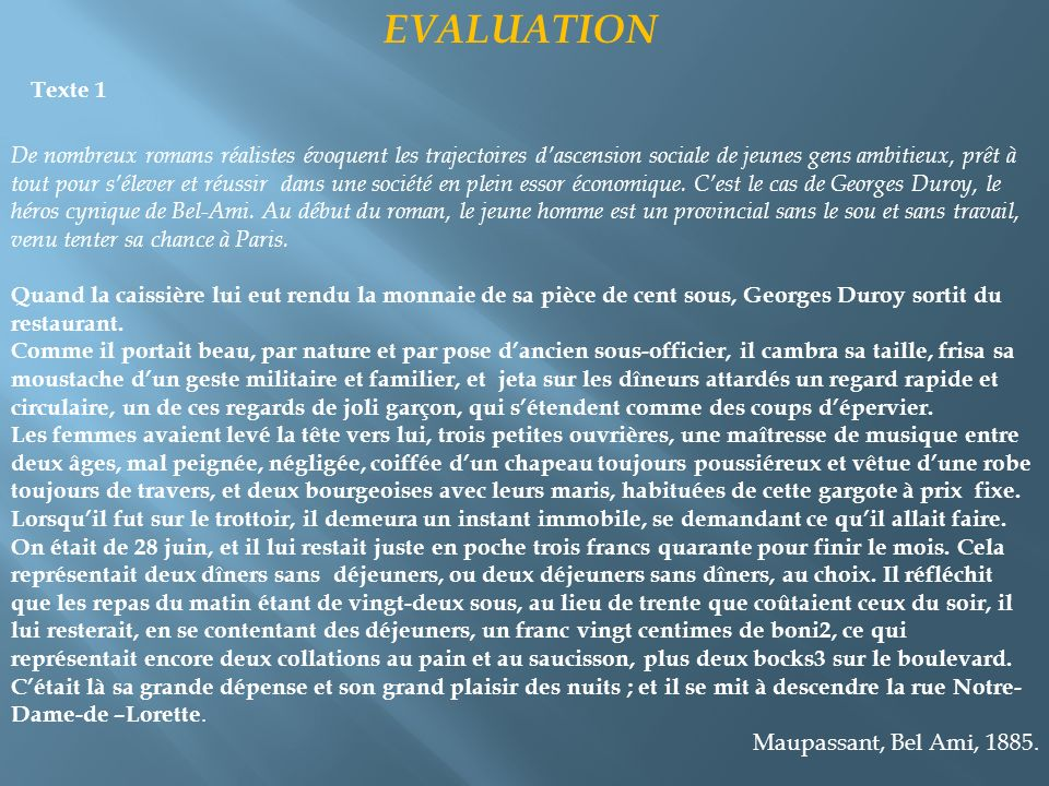 Texte 1 EVALUATION.