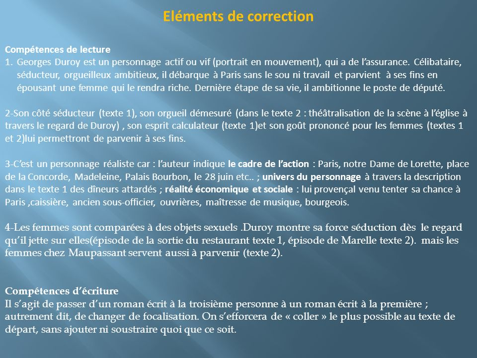 Eléments de correction