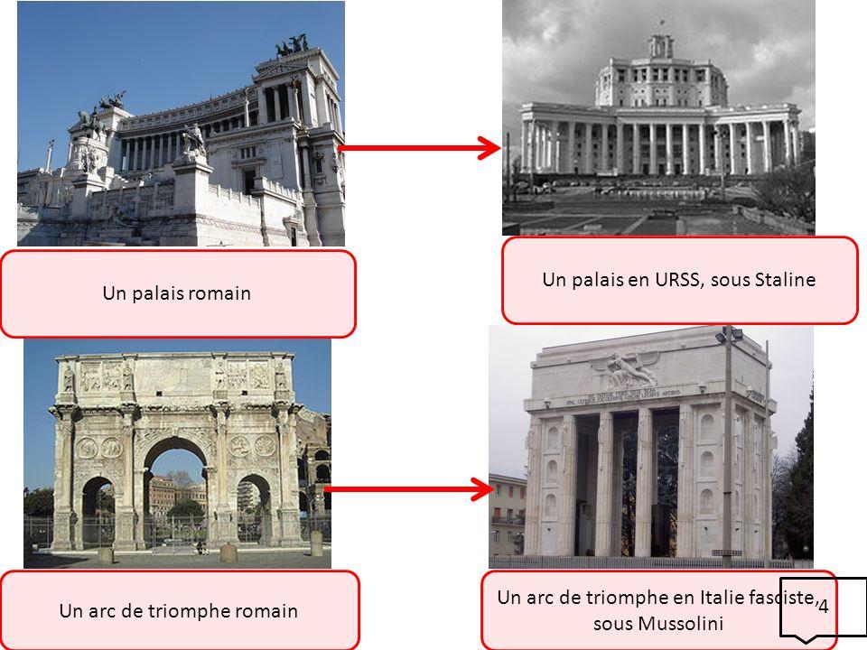 Un palais en URSS, sous Staline Un palais romain