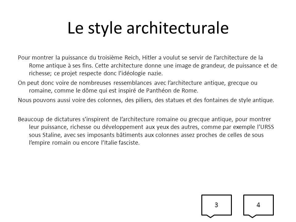 Le style architecturale