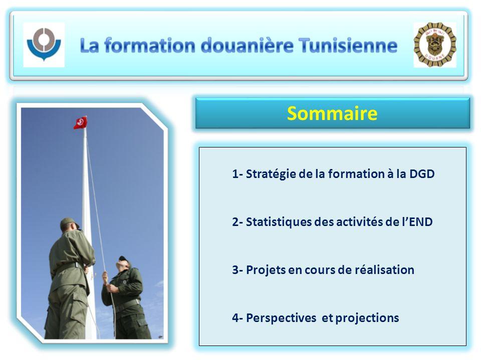 Sommaire 1- Stratégie de la formation à la DGD