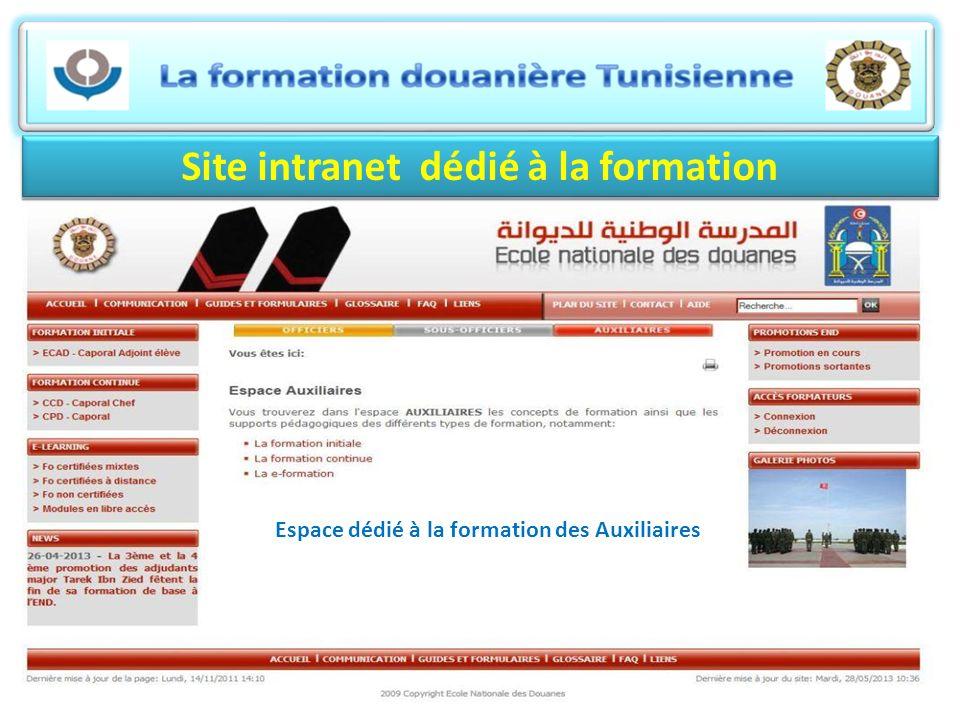 Site intranet dédié à la formation