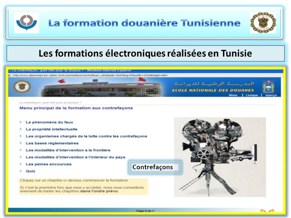 Les formations électroniques réalisées en Tunisie