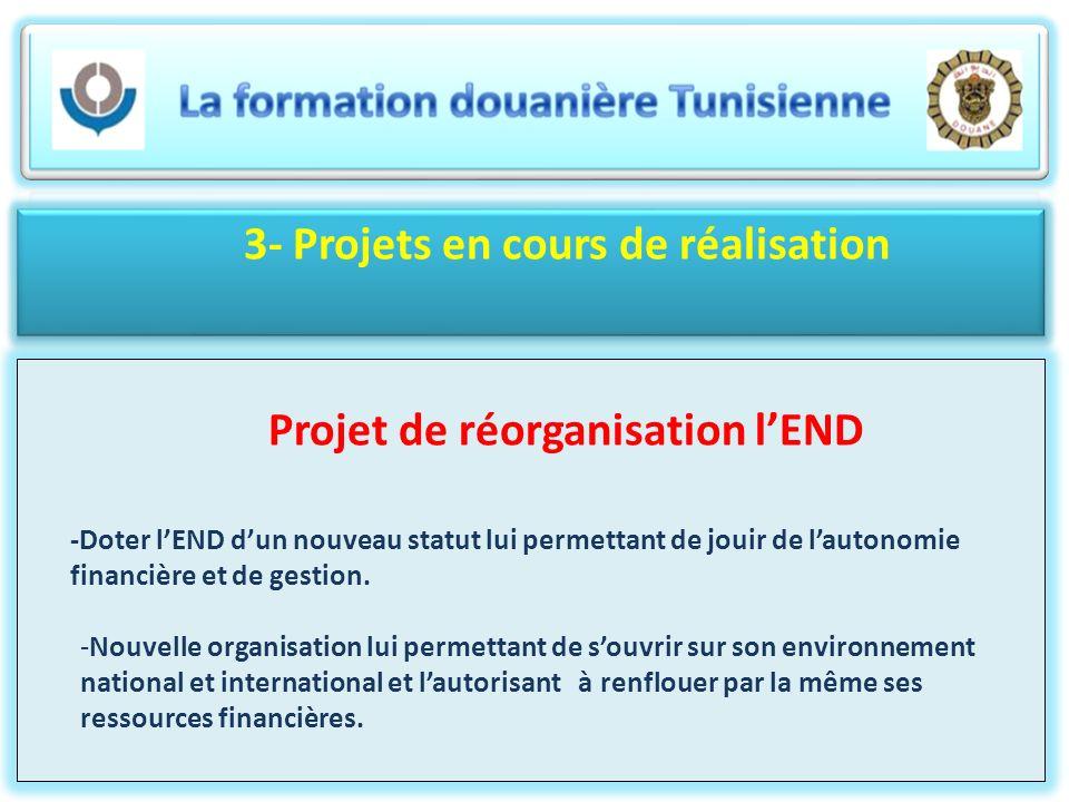 3- Projets en cours de réalisation