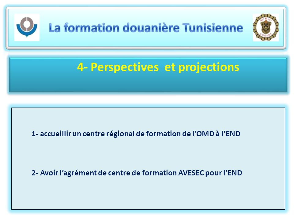 4- Perspectives et projections