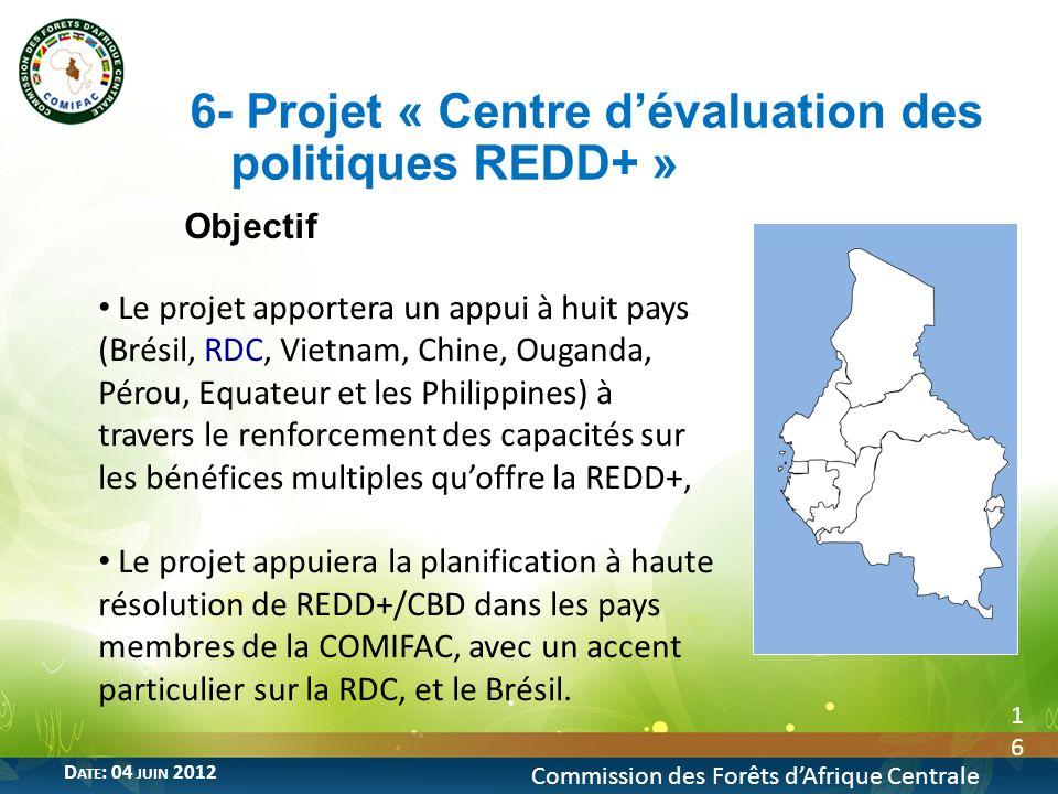 6- Projet « Centre d'évaluation des politiques REDD+ »