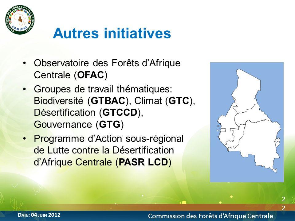 Autres initiatives Observatoire des Forêts d'Afrique Centrale (OFAC)
