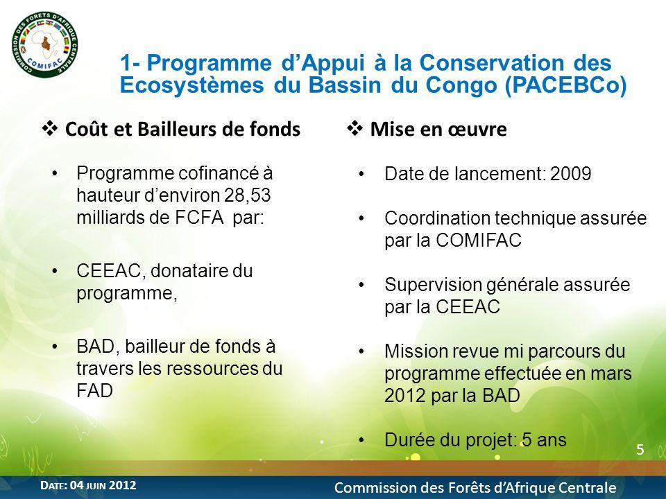 1- Programme d'Appui à la Conservation des Ecosystèmes du Bassin du Congo (PACEBCo)