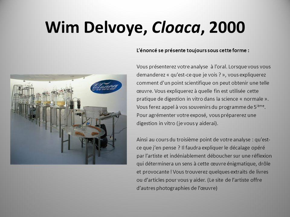 Wim Delvoye, Cloaca, 2000