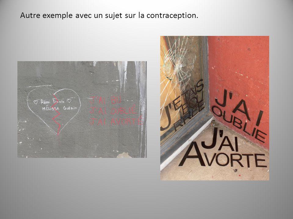 Autre exemple avec un sujet sur la contraception.