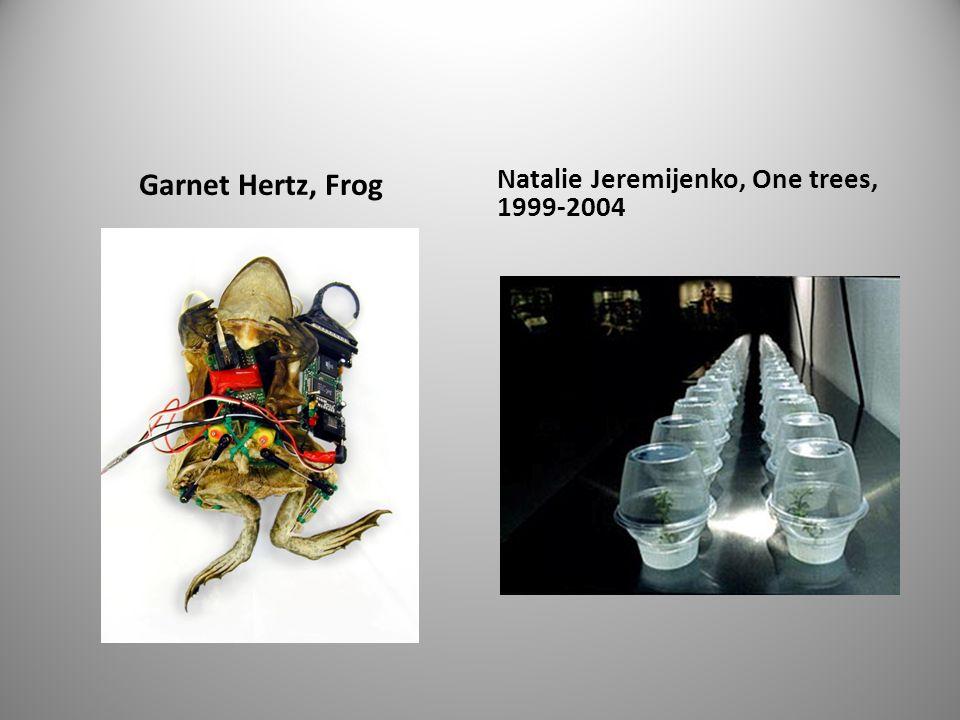 Garnet Hertz, Frog Natalie Jeremijenko, One trees, 1999-2004