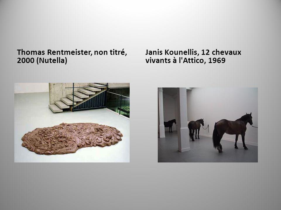 Thomas Rentmeister, non titré, 2000 (Nutella)