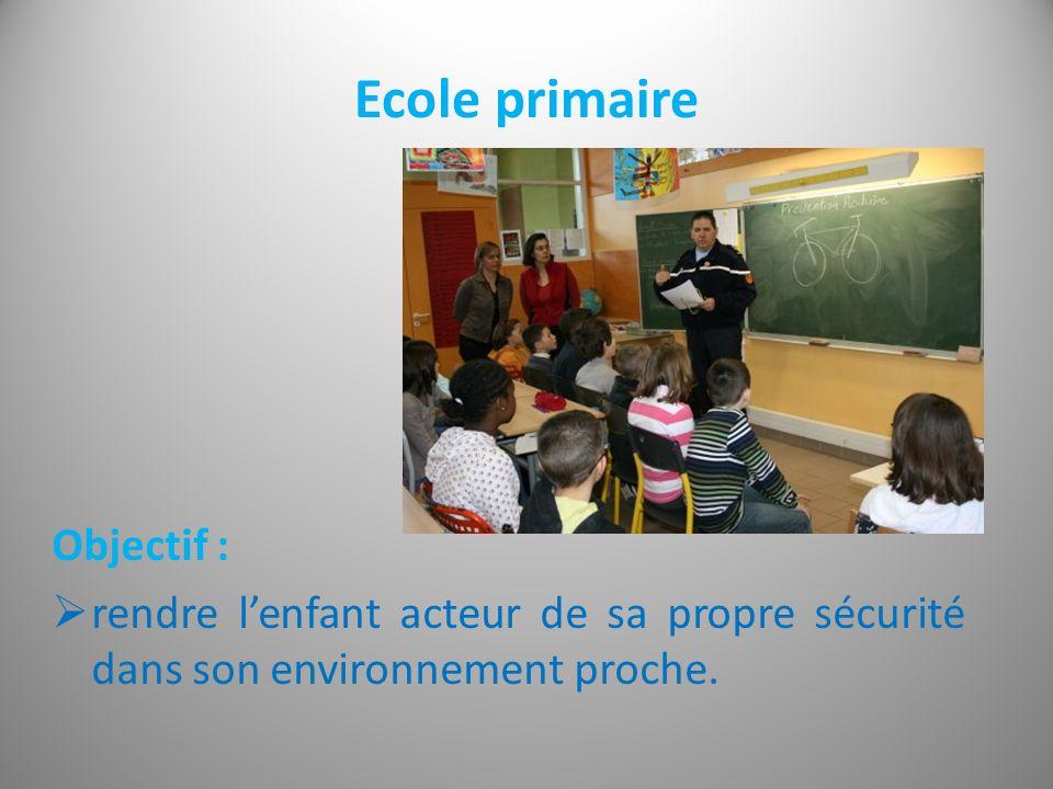 Ecole primaire Objectif :
