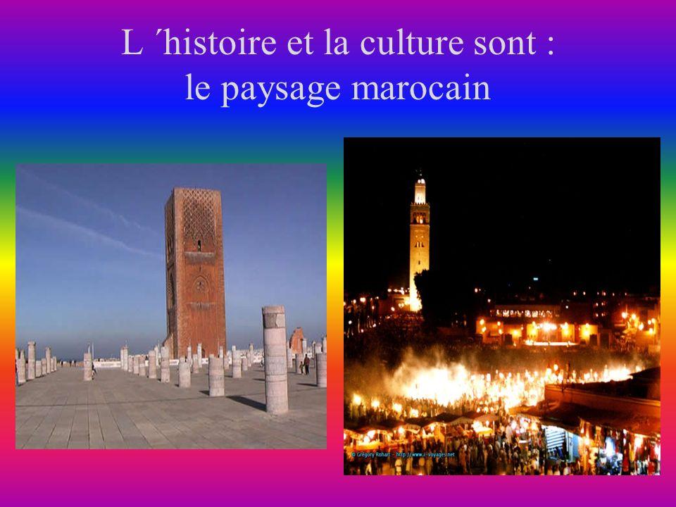 L ´histoire et la culture sont : le paysage marocain