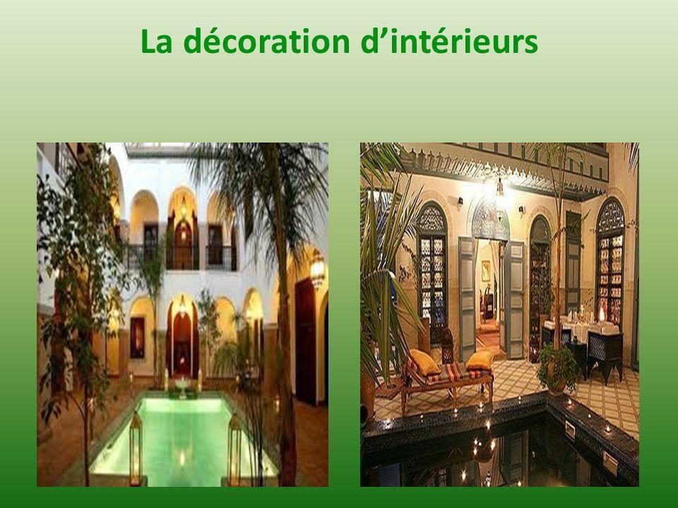 La décoration d'intérieurs