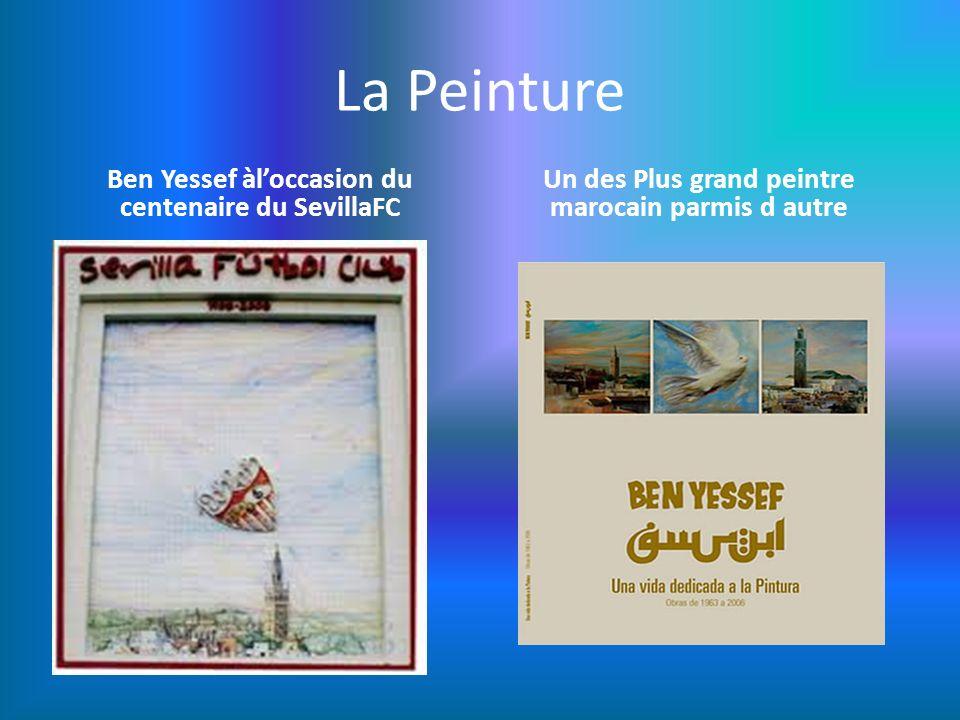 La Peinture Ben Yessef àl'occasion du centenaire du SevillaFC