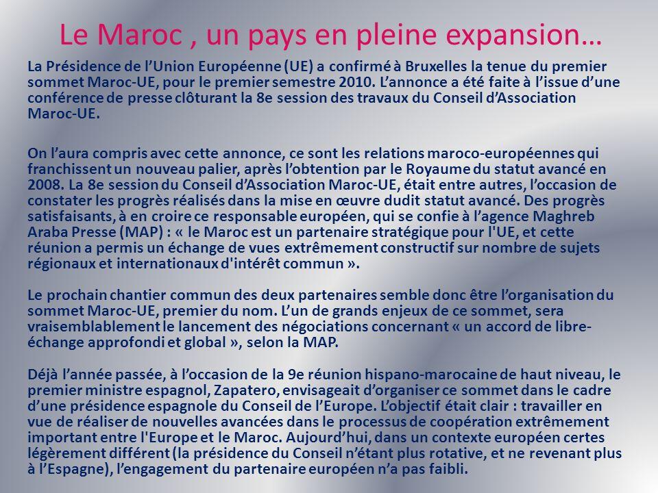 Le Maroc , un pays en pleine expansion…