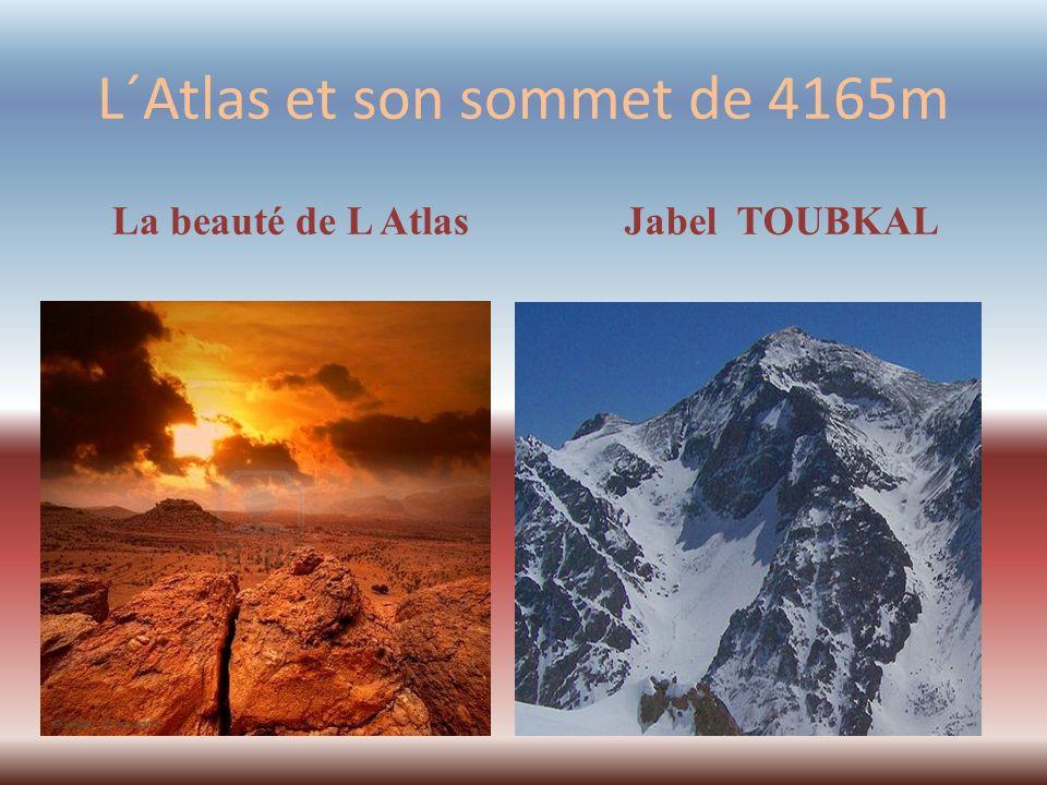 L´Atlas et son sommet de 4165m