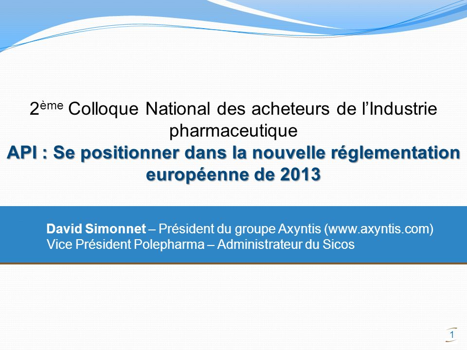 2ème Colloque National des acheteurs de l'Industrie pharmaceutique