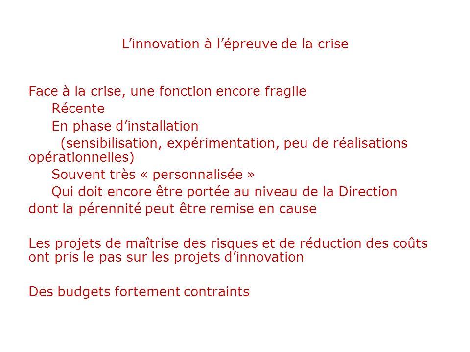 L'innovation à l'épreuve de la crise