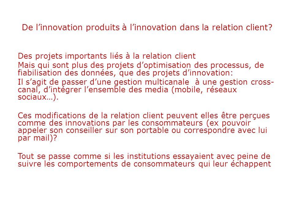 De l'innovation produits à l'innovation dans la relation client