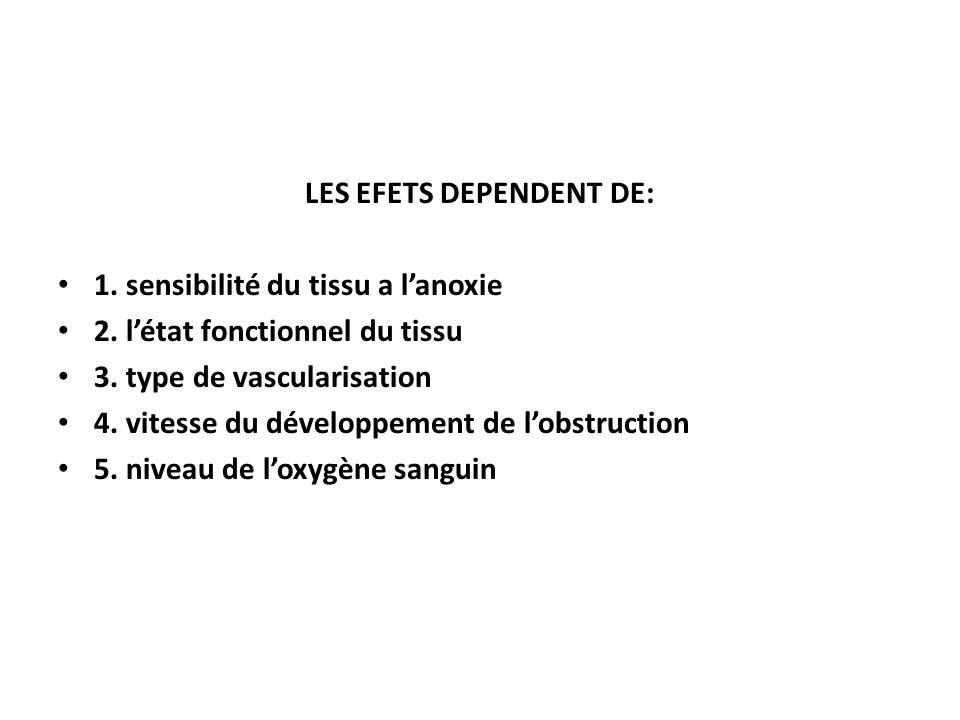 LES EFETS DEPENDENT DE:
