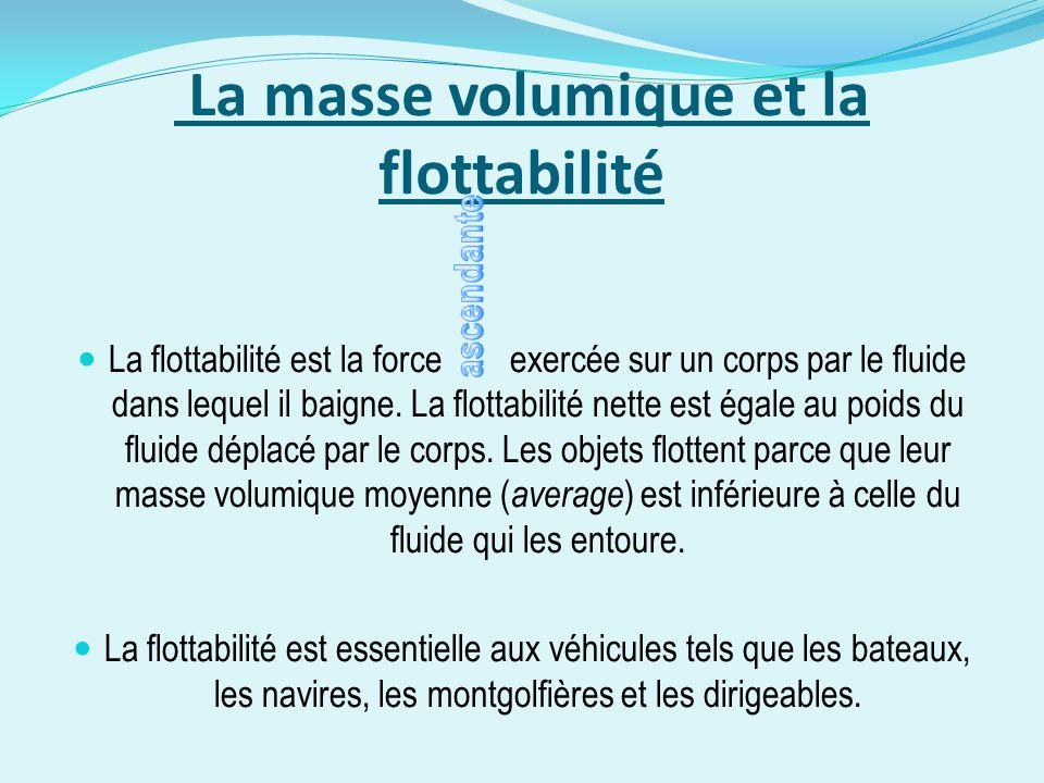 La masse volumique et la flottabilité