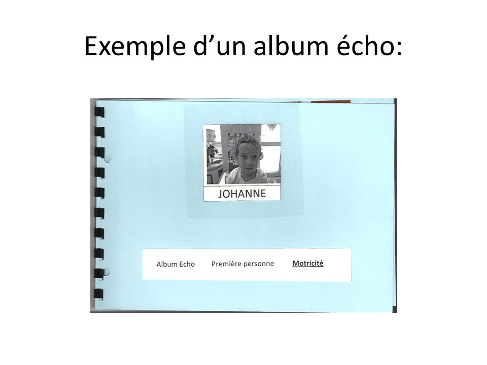 Exemple d'un album écho: