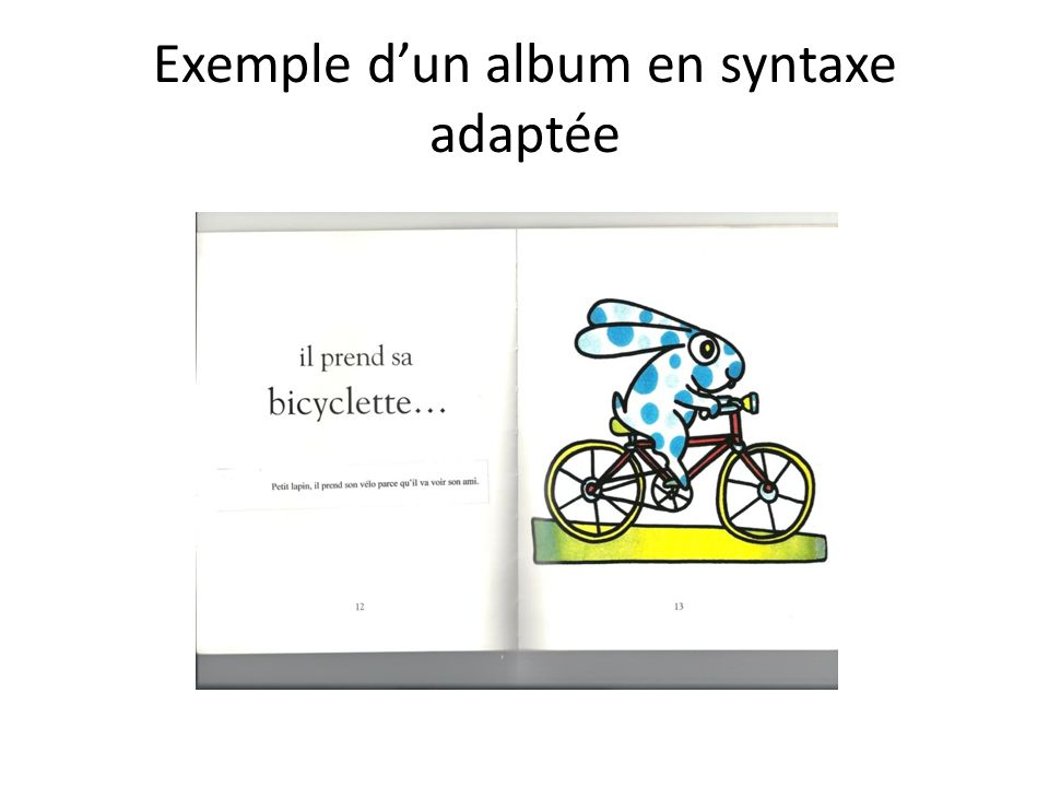 Exemple d'un album en syntaxe adaptée