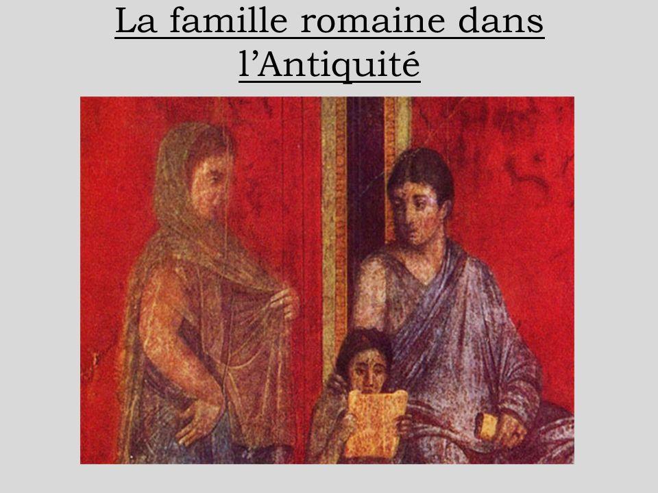 La famille romaine dans l'Antiquité
