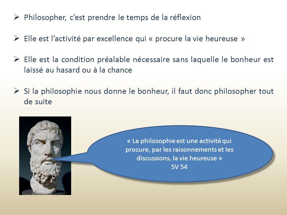 Philosopher, c'est prendre le temps de la réflexion