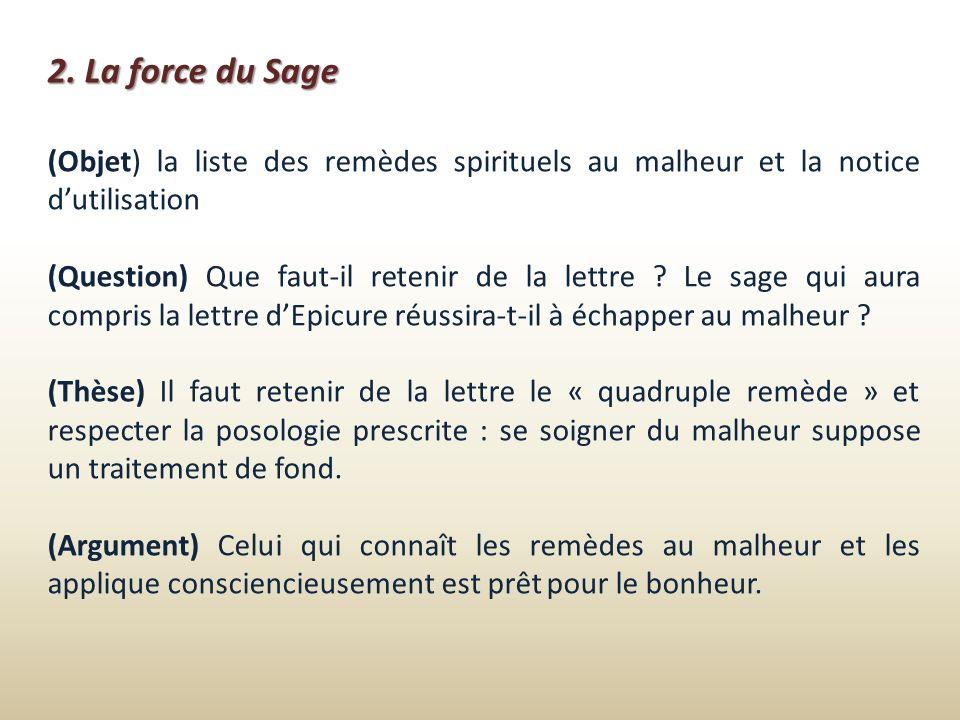 2. La force du Sage (Objet) la liste des remèdes spirituels au malheur et la notice d'utilisation.