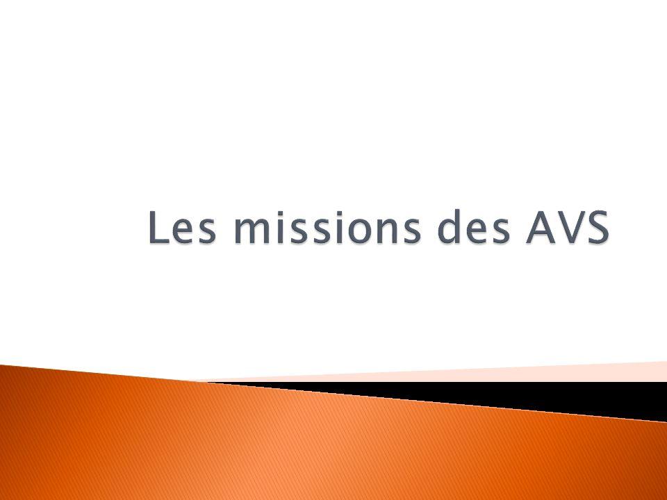 Les missions des AVS