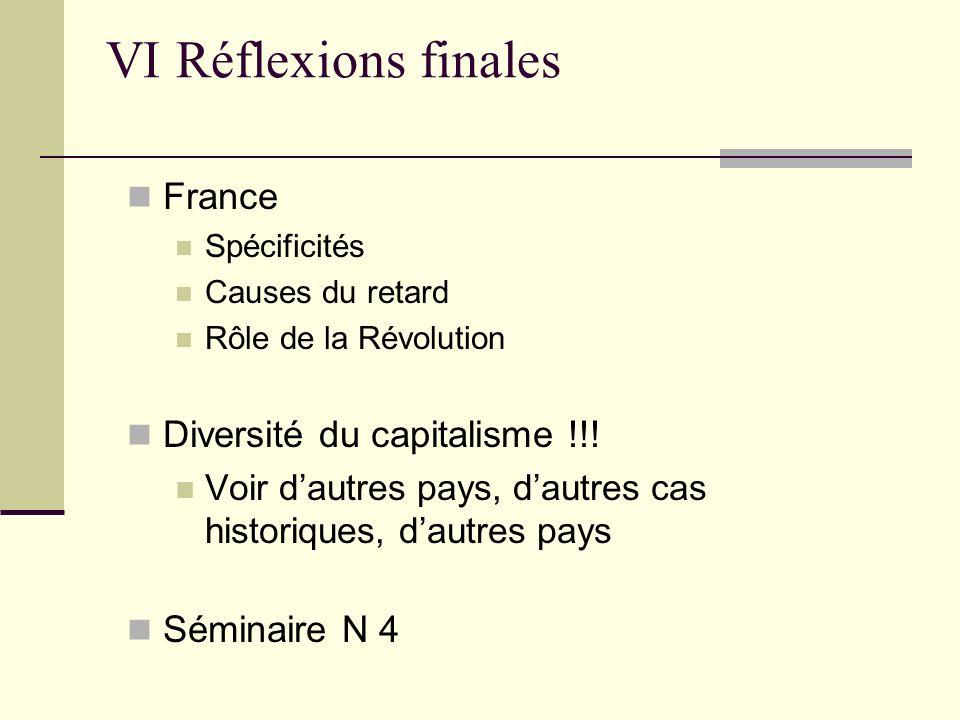 VI Réflexions finales France Diversité du capitalisme !!!