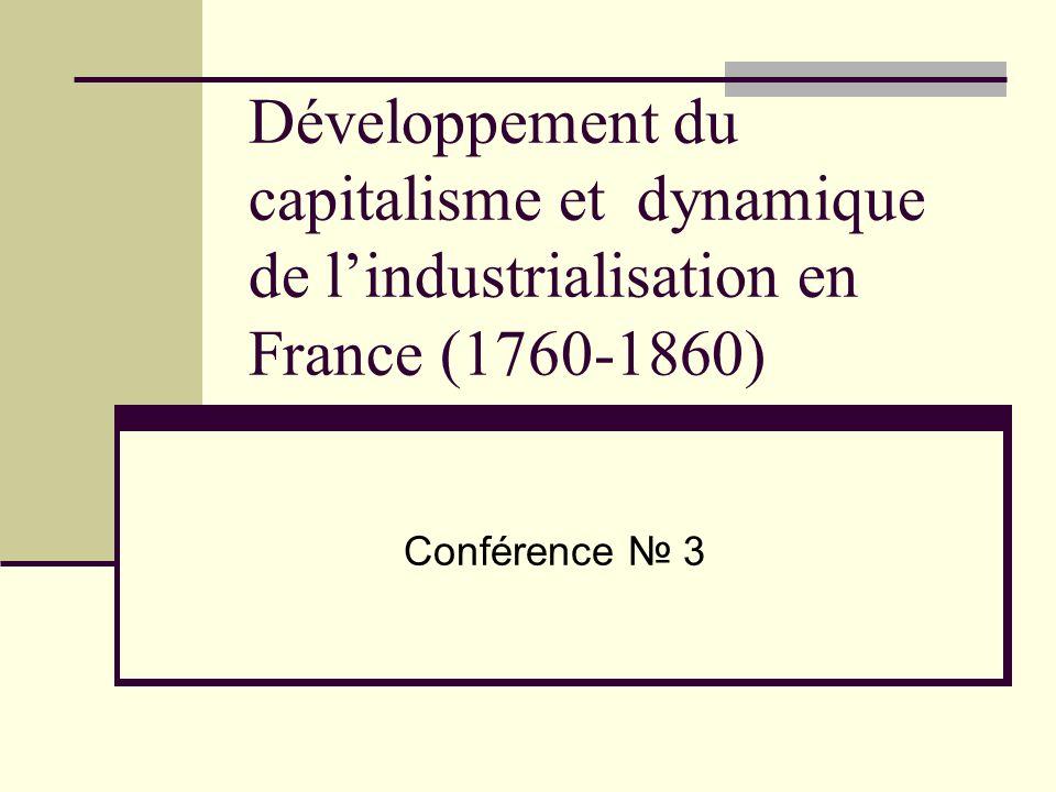 Développement du capitalisme et dynamique de l'industrialisation en France (1760-1860)