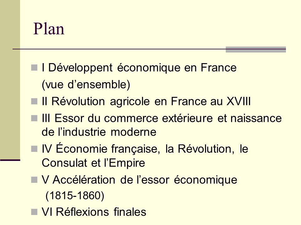 Plan I Développent économique en France (vue d'ensemble)