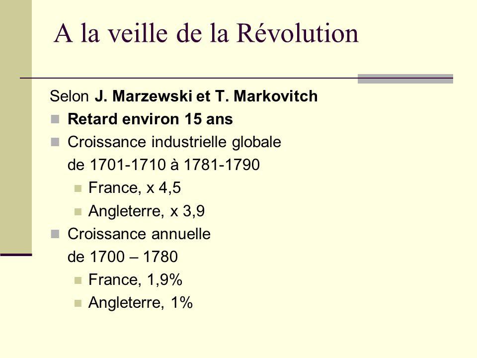 A la veille de la Révolution
