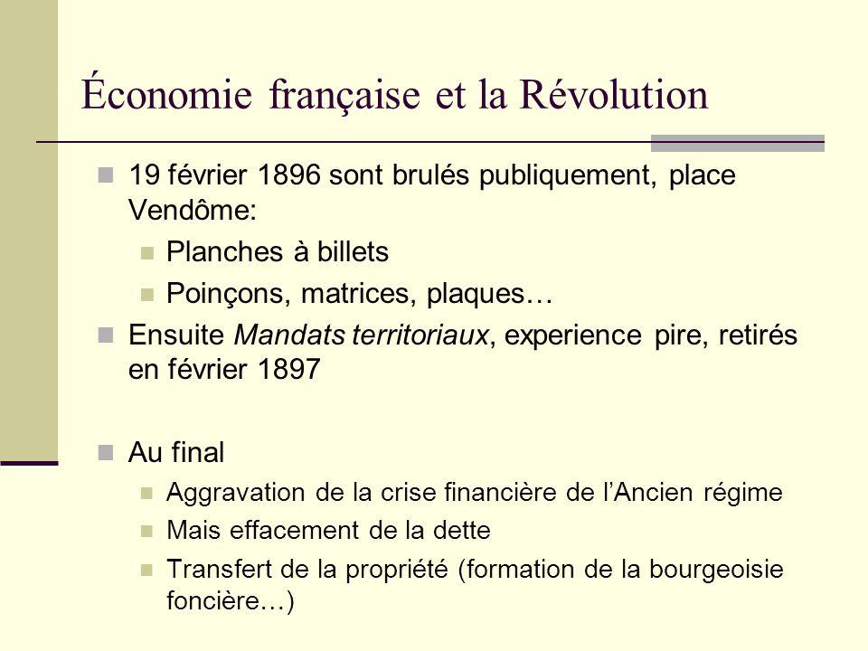 Économie française et la Révolution