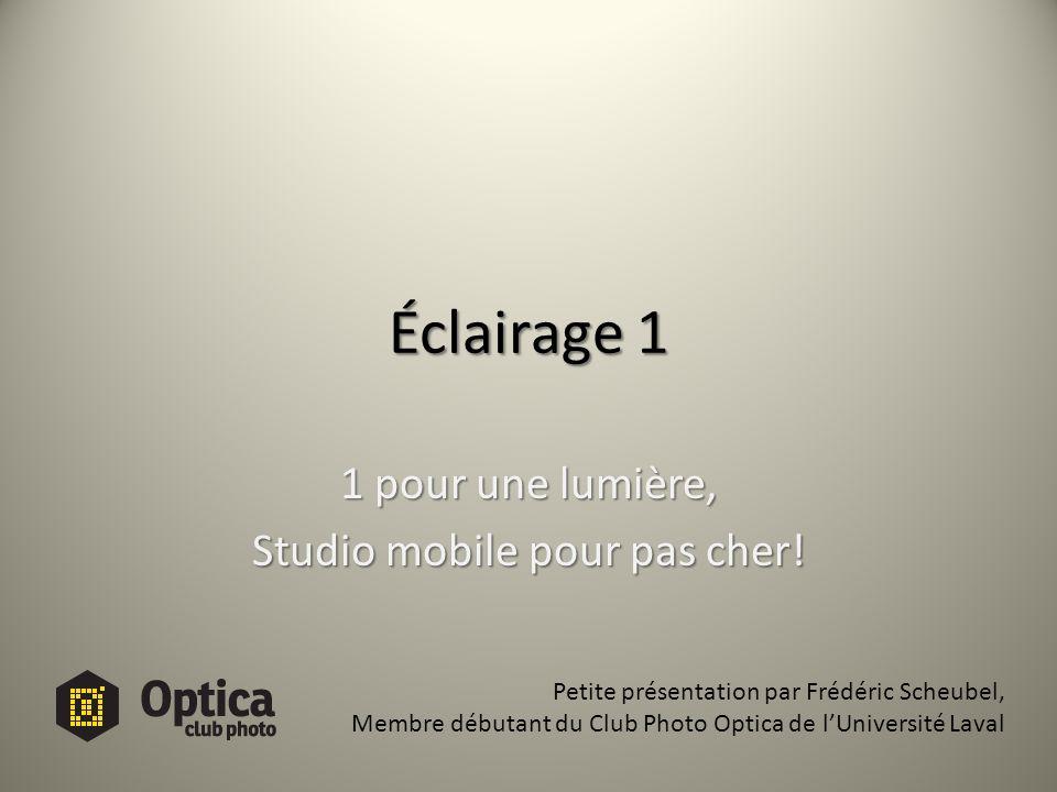 1 pour une lumière, Studio mobile pour pas cher!