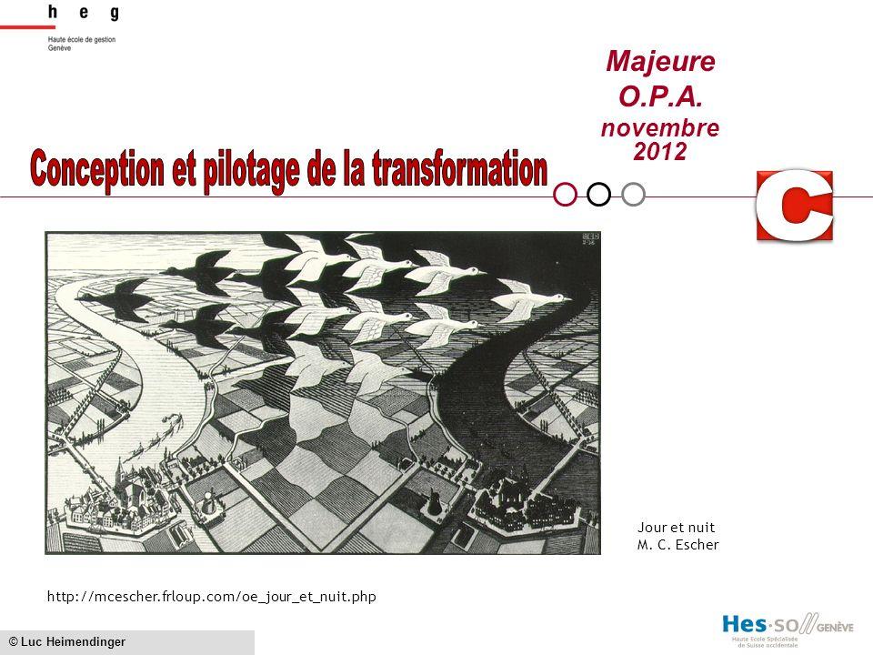 Conception et pilotage de la transformation