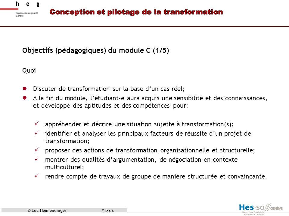 Objectifs (pédagogiques) du module C (1/5)