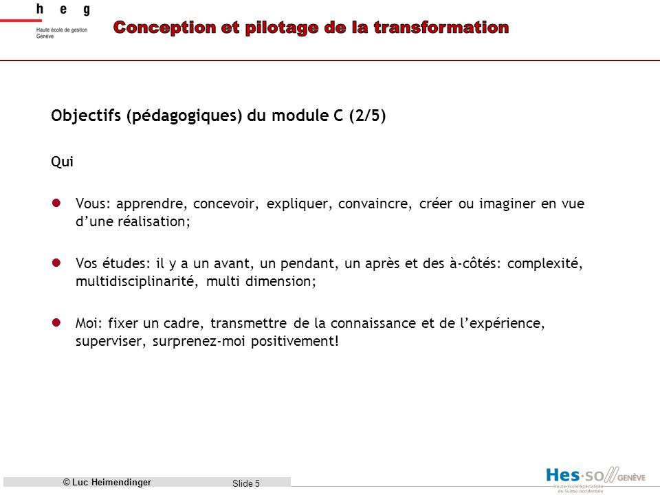 Objectifs (pédagogiques) du module C (2/5)