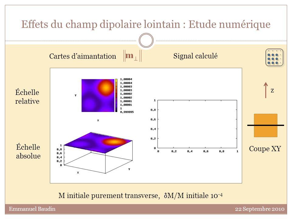 Effets du champ dipolaire lointain : Etude numérique