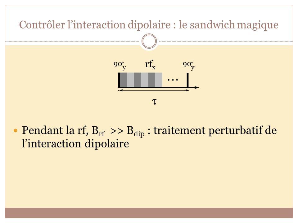 Contrôler l'interaction dipolaire : le sandwich magique