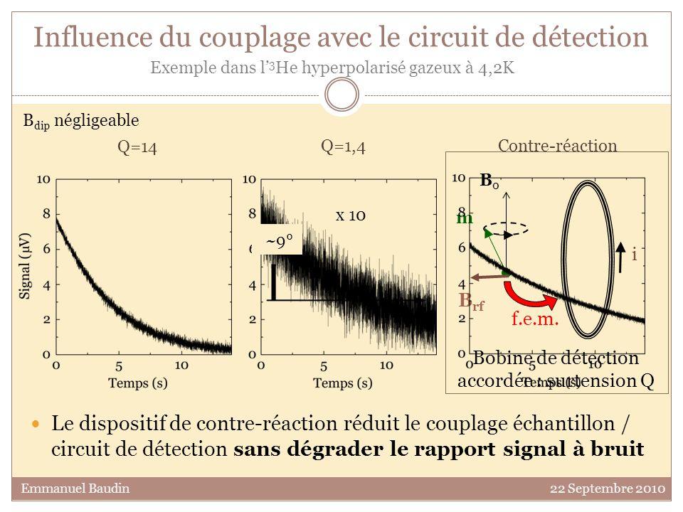 Influence du couplage avec le circuit de détection